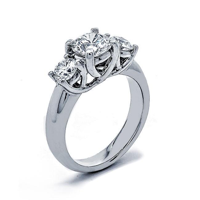 Platinum White Diamond Ring