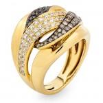 18K Yellow Gold Brown Diamond Band