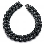 18K Black Rhodium Black Diamond Bracelet