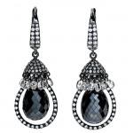 18K White Gold Briolette Diamond Earrings