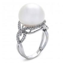 18K White Gold White Pearl Ring