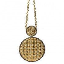 18K Yellow Gold Brown Diamond Necklace