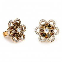 18K Yellow Gold Fancy Diamond Studs