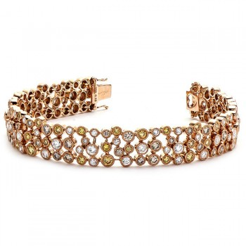 18K Rose Gold Yellow Diamond Bracelet