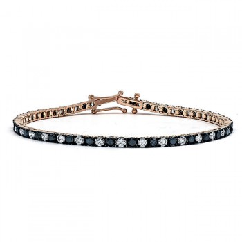 18K Rose Gold Black Diamond Bracelet