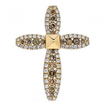 18K Yellow Gold Brown Diamond Pendant
